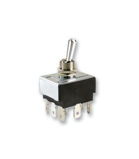 MCR13-432D1-01 - Interruptor alavanca 3PDT, ON-OFF-ON 18A - MCR13432D101