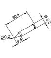 Ponta 0.2mm para ERSA I-Tool - 0102PDLF02/SB