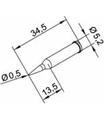 Ponta 0.5mm para ERSA I-Tool - 0102PDLF05L/SB