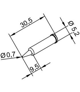 Ponta 0.7mm para ERSA I-Tool Pack 10un - 0102PDLF07/10