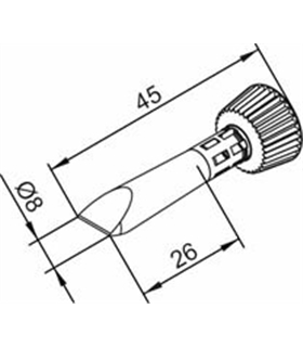 Ponta 8mm para ERSA I-Tool - 0102CDLF080C/SB