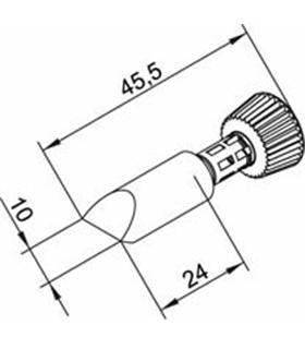 Ponta 10mm para ERSA I-Tool Pack 10un - 0102CDLF100/10