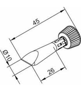 Ponta 10mm para ERSA I-Tool - 0102CDLF100C/SB
