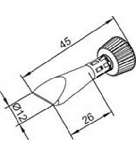 Ponta 12mm para ERSA I-Tool Pack 10un - 0102CDLF120C/10