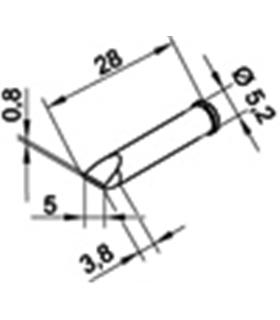 Ponta 5mm para ERSA I-Tool Pack 10un - 0102CDLF50/10