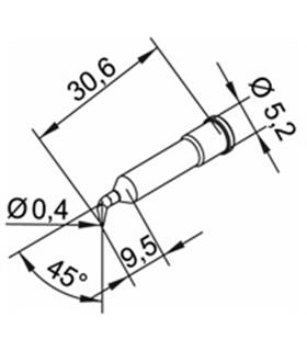 Ponta 0.4mm para ERSA I-Tool Pack 10un - 0102SDLF04/10