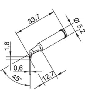 Ponta 1.8mm para ERSA I-Tool Pack 10un - 0102SDLF18/10