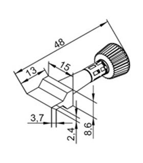 Ponta 15mm para ERSA I-Tool - 0102ZDLF150/SB