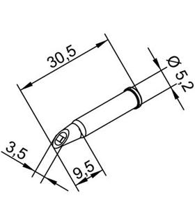 Ponta 3.5mm para ERSA I-Tool - 0102WDLF35/SB
