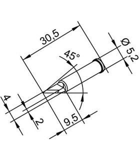 Ponta 2mm para ERSA I-Tool - 0102BDLF20/SB