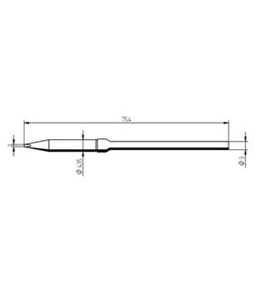 Ponta 1.0mm para ferro MICRO TOOL de estaçoes ERSA - 0212CDLF/SB