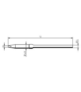 Ponta 1.8mm para ferro MICRO TOOL de estaçoes ERSA - 0212EDLF/SB