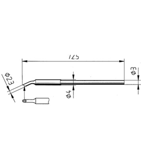 Ponta 2.3mm para ferro MICRO TOOL de estaçoes ERSA - 0212MS/SB