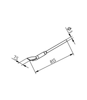 Ponta dessoldar 7.5mm ERSA - 0452FDLF075/SB