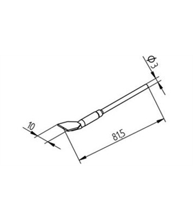 Ponta dessoldar 10mm ERSA - 0452FDLF100/SB