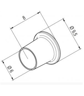 Ponta Ar Quente, 6mm para I-TOOL AIR S, ERSA - 0472CR/SB