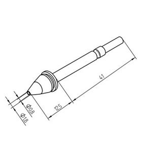 Ponta dessoldar 0.8mm, X-TOOL ERSA - 0722EN0818/SB