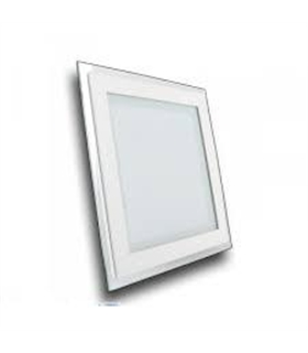 6W LED Mini Panel / LED Downlight Glass - Square Warm White - VT4738