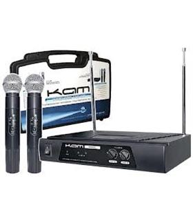 Central 2 Microfones de mão s/ fios VHF173.8/175 KAM - KWB11B