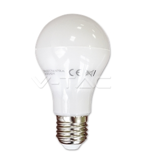 Lâmpadas LED E27 7W Termoplástico Epistar Branco Neutro A60 - VT4211