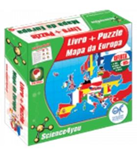 Livro + Puzzle - Mapa da Europa - 401137