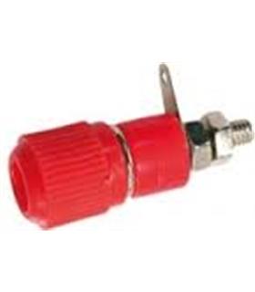 Alvéolo de painel 4mm 60Vdc c/ terminal vermelho - 69APMR