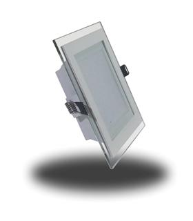 Mini Painel Vidro 12W Branco Frio Quadrado - VT4741
