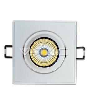 Downlight 3W COB Quadrado Orientável Branco Quente - VT1122