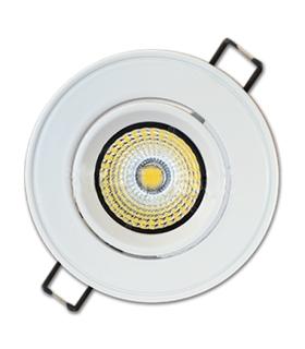 Downlight 5W COB Redondo Orientável Branco Quente - VT1124