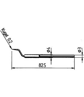 Ponta dessoldar 22.5mm ERSA - 0422RD1/SB