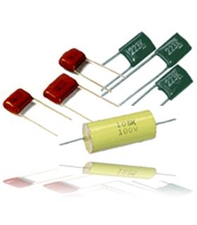 Condensador Poliester 2.2Nf 630V Axial para Audio - 3162.2630A