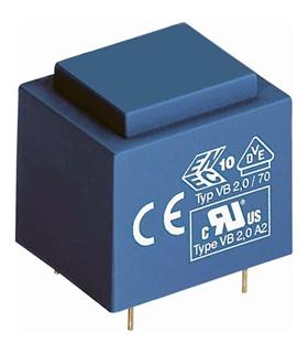 Transformador Alimentação P:220V Sec: 6v+6V, 12VAS Isolado - 2012661I