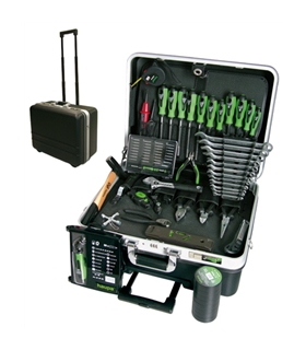 Hard-side case with 51 Tools in Tool case trolly - H220273