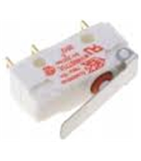 Microswitch com patilha R18mm estanque(IP67) SPDT 250VAC 5A - MSPPIP67