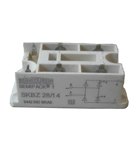 Ponte Semicontrolada Semikron 28A 1400V - SKBZ28/14