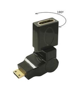 Ficha Adapt. Mini HDMI M / F HDMI 180º - MINIHDMIMHDMIF