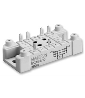 SKD53/16 - Three Phase Bridge Rectifier 53A 1.6Kv - SKD53/16