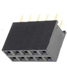 ZL262-10DG - Regua 2x5 pinos Espaçamento 2.54mm - ZL262-10DG