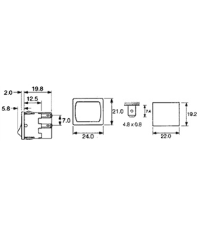 Interruptor Basculante Medio Duplo - 914BMD