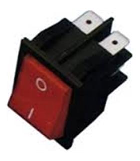 Interruptor Basculante Duplo Pequeno C/Luz Vermelho - 914BPDLR