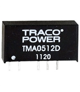 TMA0512D - CONVERTER, DC-DC, +/-12V, 1W - TMA0512D