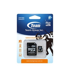 Cartão micro SDHC CARD 16Gb TEAM CLASS10 - SD16GBT