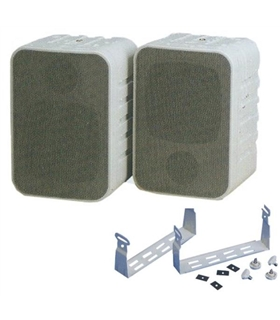 Par de colunas 8Ohm 30W com suporte - bege - MW6901 - MW6901