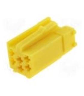 Ficha mini-ISO amarela 6pin - 69FMISO6