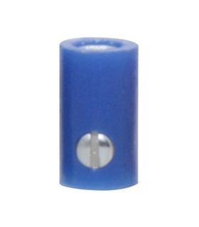 69BF2.6BL - Ficha Banana femea 2.6mm - azul - 69BF2.6BL