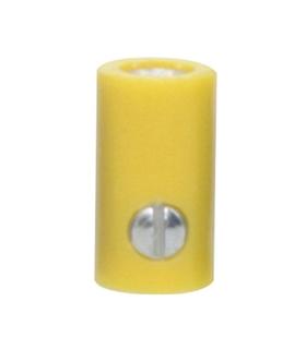 69BF2.6Y - Ficha Banana femea 2.6mm - amarelo - 69BF2.6Y