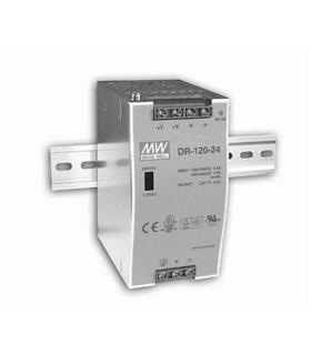DR-120-24 - Fonte de alimentação calha DIN 24VDC 5.0A 120W - DR12024
