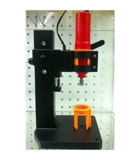 Mini-berbequim com suporte e LED - DS012