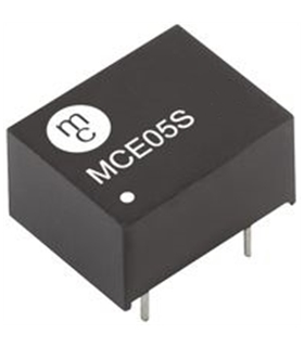 MCE05S15D - Isolated Board Mount DC/DC Converter 1W, 15V - MCE05S15D