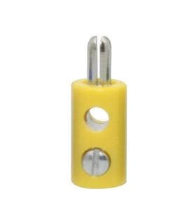 69BM2.6Y - Ficha Banana macho 2.6mm - amarelo - 69BM2.6Y